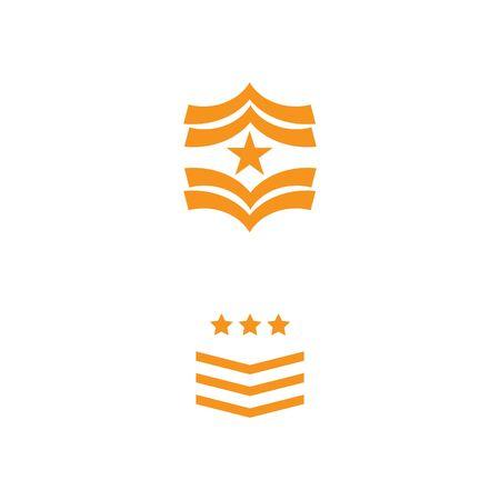 Military icon Vector Illustration design Logo template Ilustrace