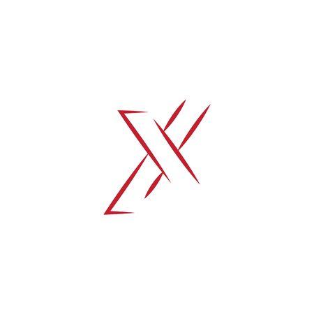 X Logo Template vector symbol nature