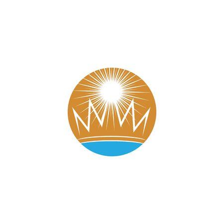 Crown Logo Template vector icon illustration design 版權商用圖片 - 138185808