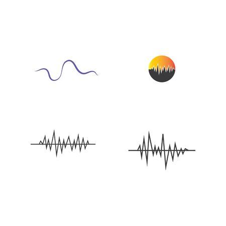 Set Sound waves vector illustration design template Иллюстрация