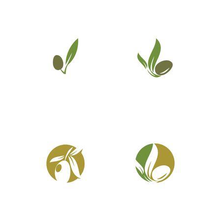 Set olive icon vector illustration design template