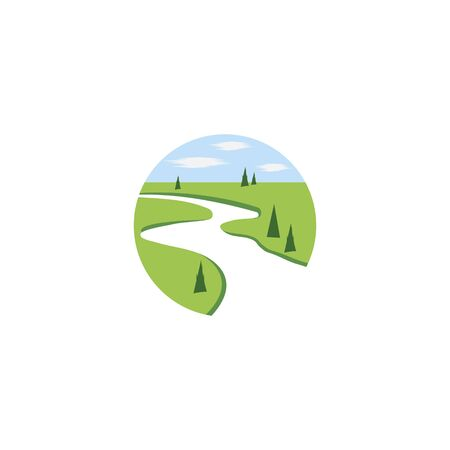 River Logo Template vector symbol nature