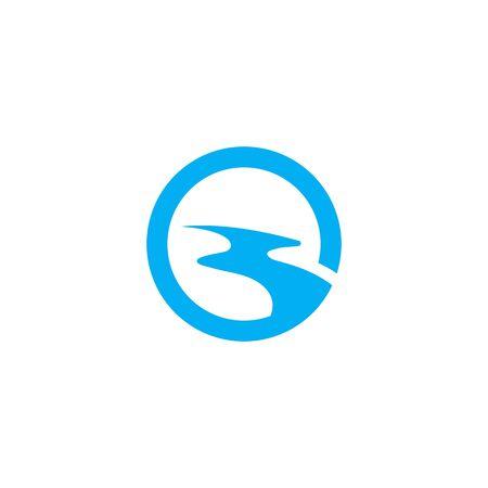 Fluss Logo Vorlage Vektor Symbol Natur
