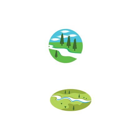 River vector icon illustration design