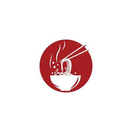Noodles Logo Template vector symbol nature  イラスト・ベクター素材