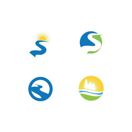 Set River vector icon illustration design