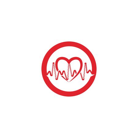 heart pulse Logo Template vector symbol nature