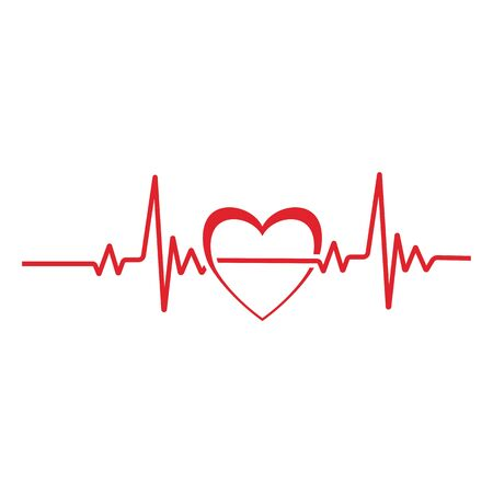 Herz Puls Logo Vorlage Vektor Symbol Natur