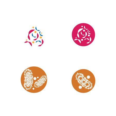 Set Bacterial Logo Template vector symbol nature Ilustrace