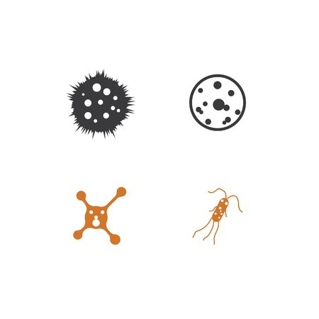 Set Bacterial Logo Template vector symbol nature Vectores