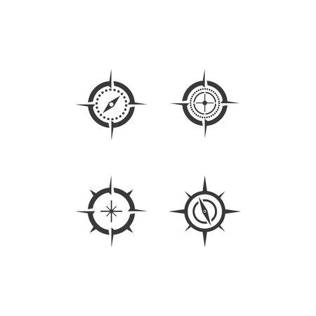 Set Kompass Logo Vorlage Vektor Symbol Natur Logo