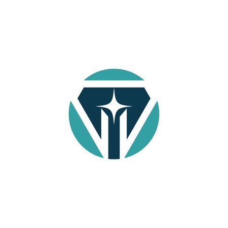 Diamond Logo Template vector symbol nature Stock Illustratie
