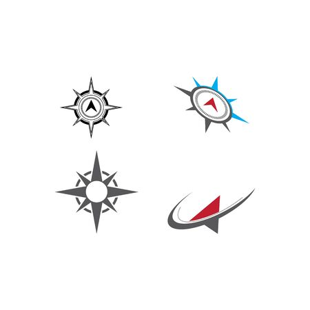 Set Compass icon Vector Illustration design Logo template