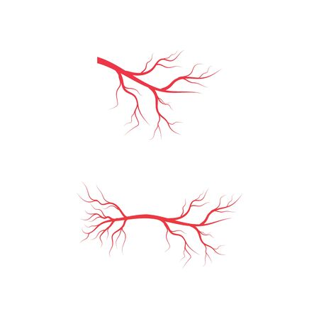 Veins icon Vector Illustration design template