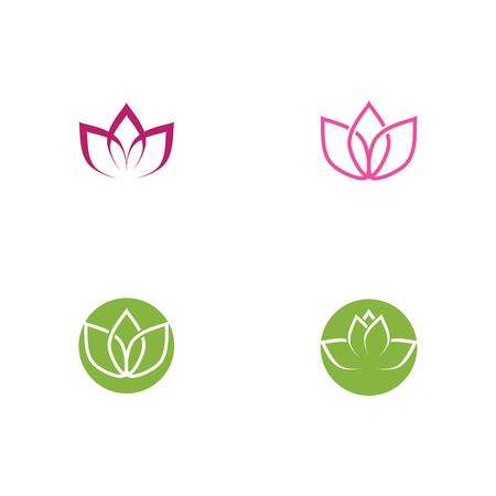 Beauty Vector lotus flowers design Template icon