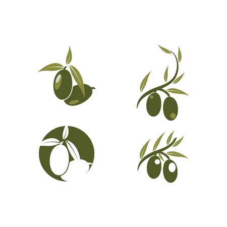 Set olive icon vector illustration design template Vetores