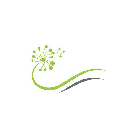 Dandelion Flower  Logo Template vector symbol nature