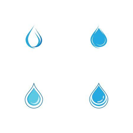 Set Water drop Logo Template vector illustration design