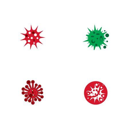 Set Virus Logo Template vector symbol nature