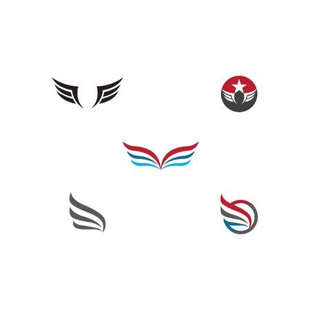Set Wing  Logo Template vector icon illustration design