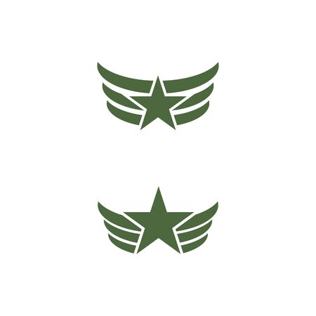 Military Wave Logo Template vector symbol nature