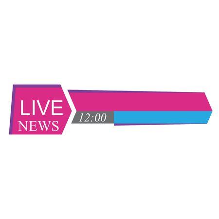 Tv news bars headlin or lower third template