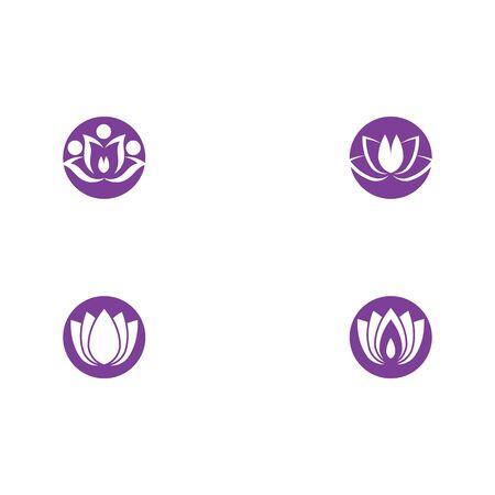 Set Beauty Vector lotus flowers design logo Template icon