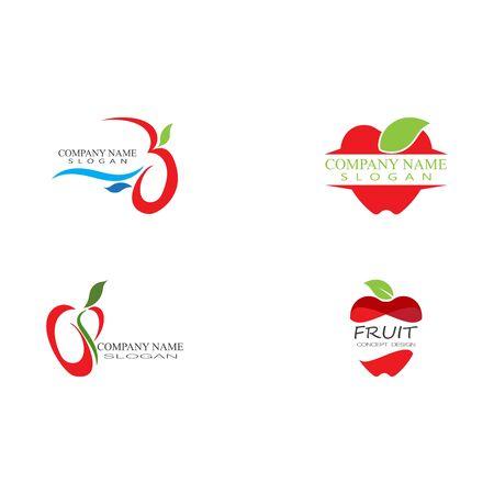 Set Apple vector illustration design icon  template Ilustração