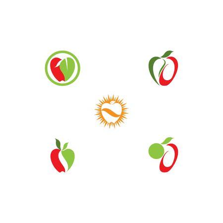 Set Apple vector illustration design   template