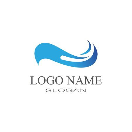 Waves Logo Template vector symbol nature