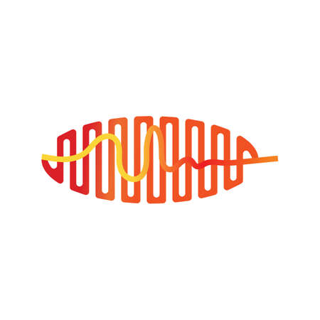 Sound waves vector illustration design template Vector Illustratie
