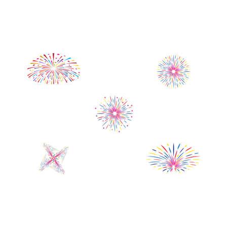 Set Fireworks Logo Template vector symbol nature 矢量图像