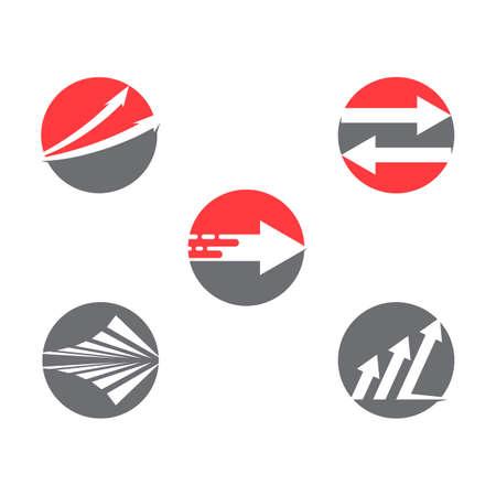 Set Arrow vector illustration icon Logo Template design