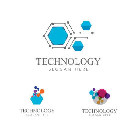 Set Technology, computer, data and innovation logo design Illusztráció