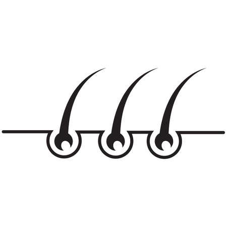 Follicle Hair treatment logo vector icon template