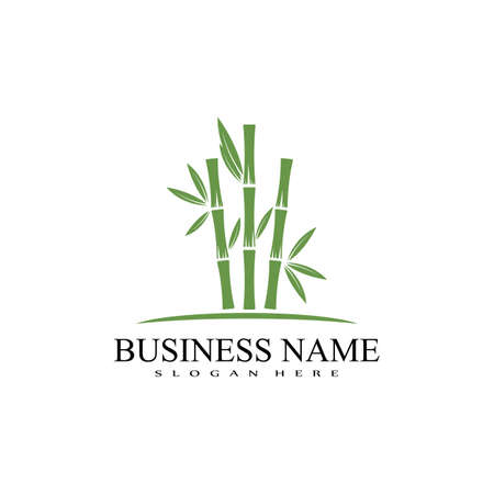 Bamboo Logo Template vector icon illustration design