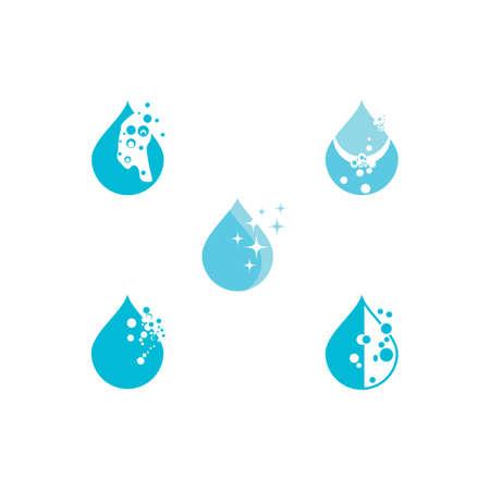 Set Water drop Logo Template vector illustration design Illusztráció
