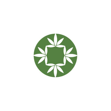 Canabis Logo Template vector symbol nature