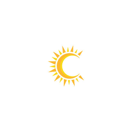 Sun Vector illustration Icon Logo Template design Illusztráció