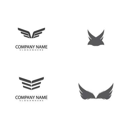 Set Falcon Wing Logo Template vector icon design