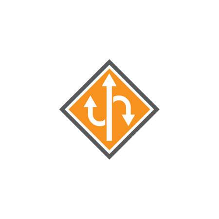 Way vector icon illustration design template  イラスト・ベクター素材