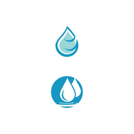 Water drop  Template vector illustration design