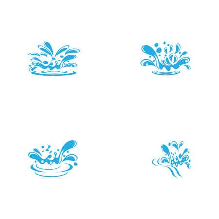 Set water splash icon vector illustration design template