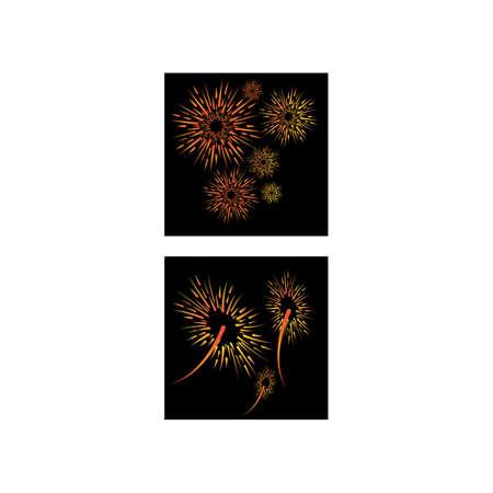 Fireworks Logo Template vector symbol nature Illustration