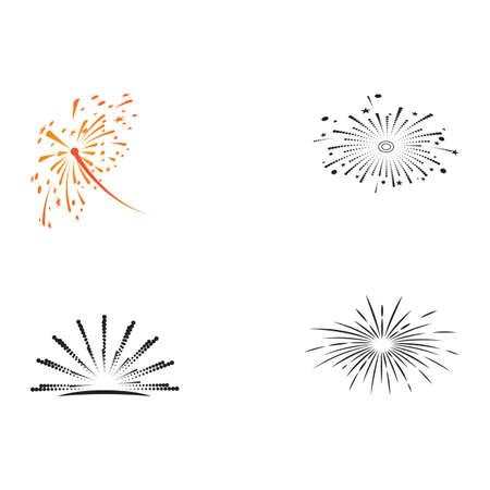 Set Fireworks Logo Template vector symbol nature Illustration