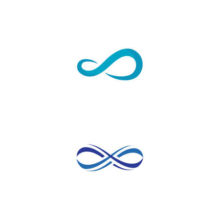 Infinity Design Vector icon illustration Logo template design 向量圖像