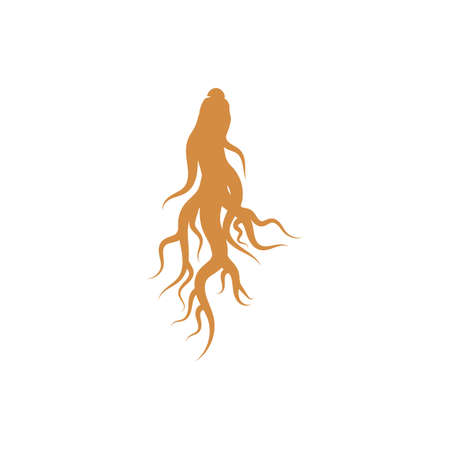 Ginseng Wave Logo Template vector symbol nature