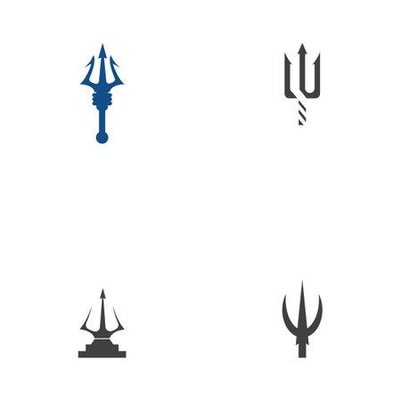 Set Trident Logo Template vector icon illustration design