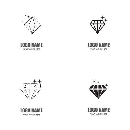 Set Diamond Logo Template vector icon illustration design Ilustração
