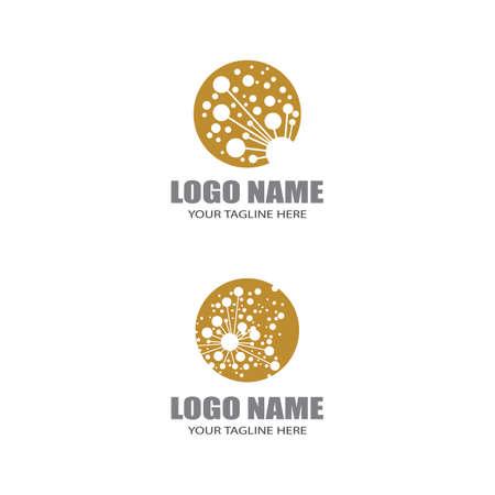Dandelion flower logo vector template design